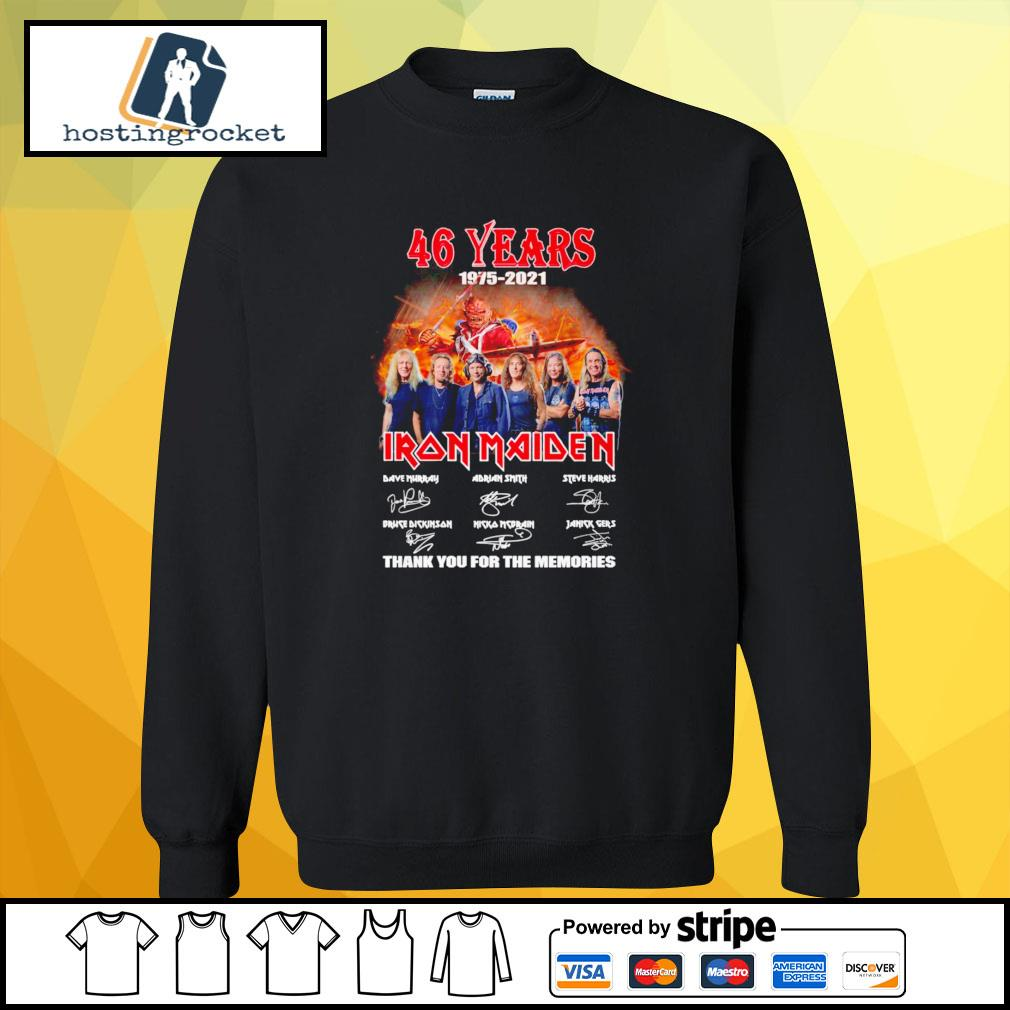 46 years 1975 2021 Iron Maiden thank you for the memories signature sweater