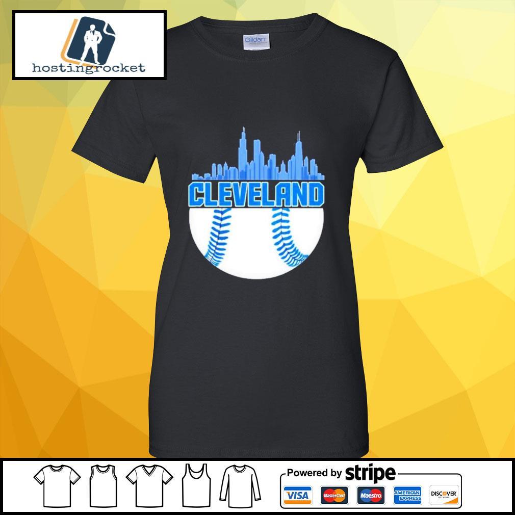 Baseball Cleveland Hometown Indian vintage ladies-tee