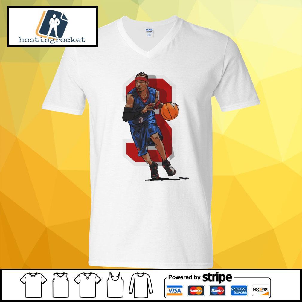 Basketball Allen Iverson Philadelphia v-neck t-shirt