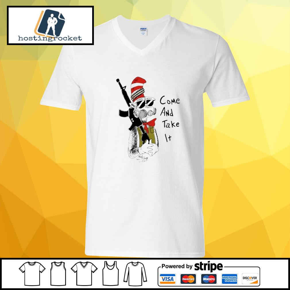 Dr Seuss come and take it v-neck t-shirt