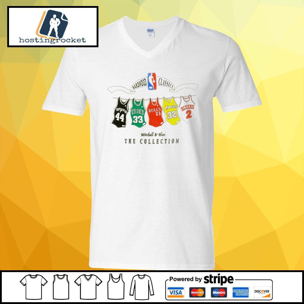 NBA Hardwood Classics Mitchell & Ness the collection v-neck t-shirt