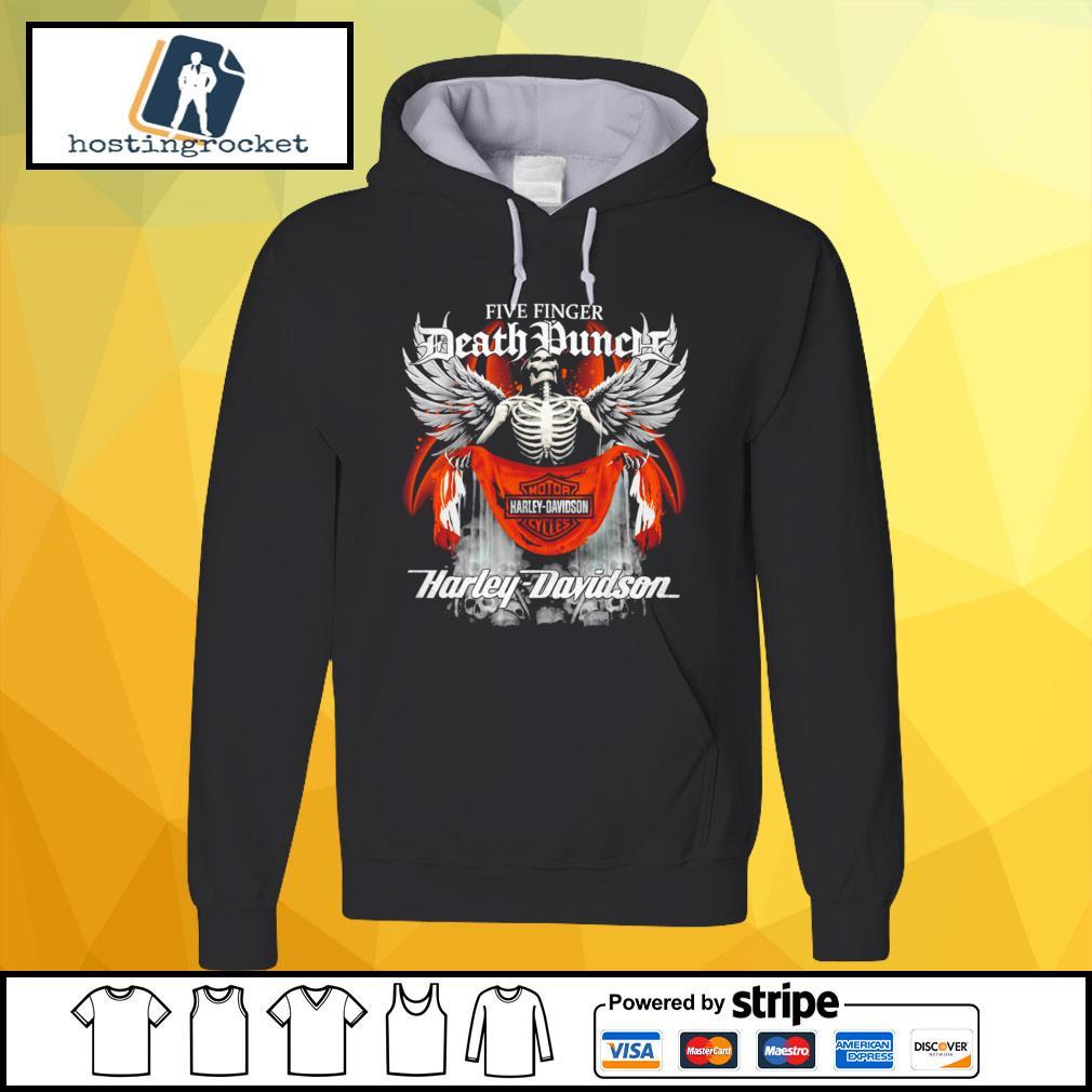 Official Five finger Death Punch Harley Davidson hoodie