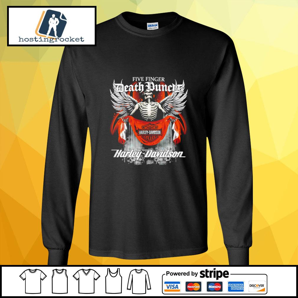 Official Five finger Death Punch Harley Davidson longsleeve-tee