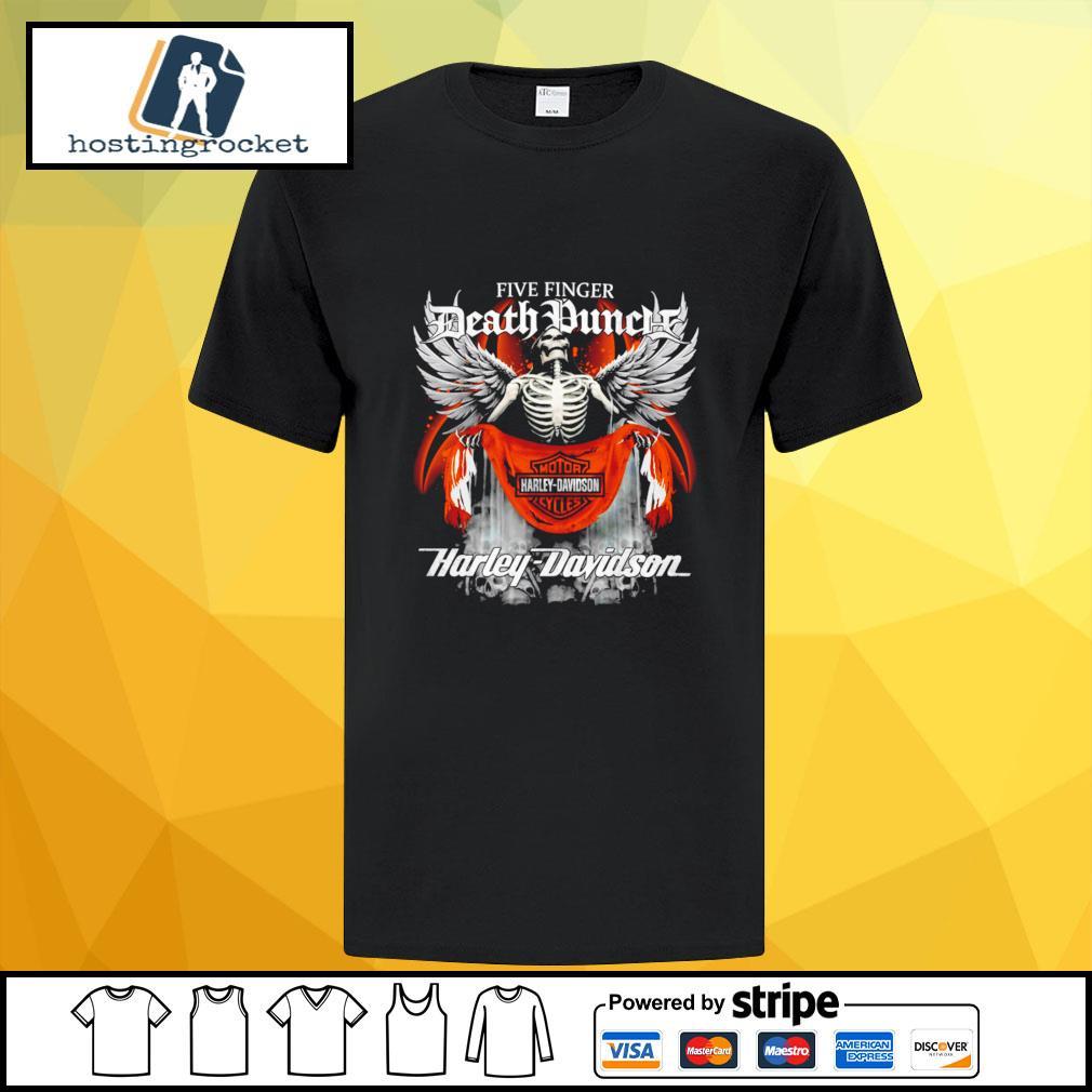 Official Five finger Death Punch Harley Davidson shirt