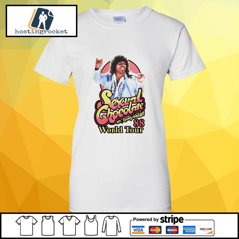 Sexual Chocolate Mr Randy Watson World Tour 88 ladies-tee