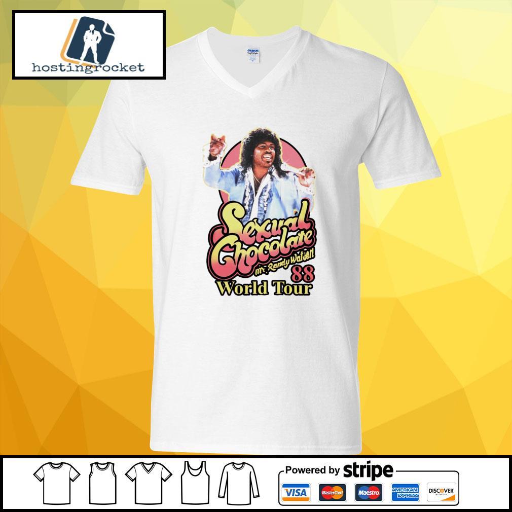 Sexual Chocolate Mr Randy Watson World Tour 88 v-neck t-shirt