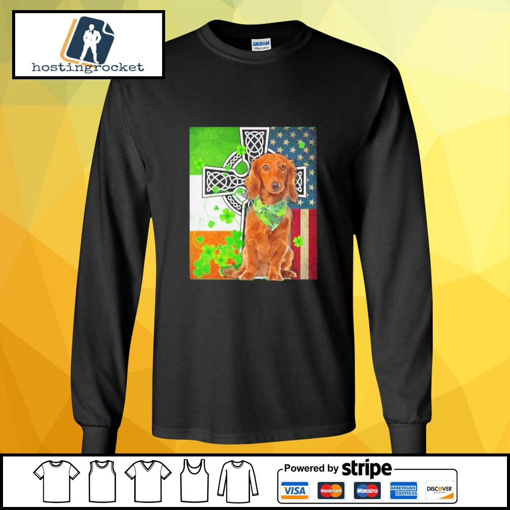St. Patrick's Day Golden Retriever Irish longsleeve-tee
