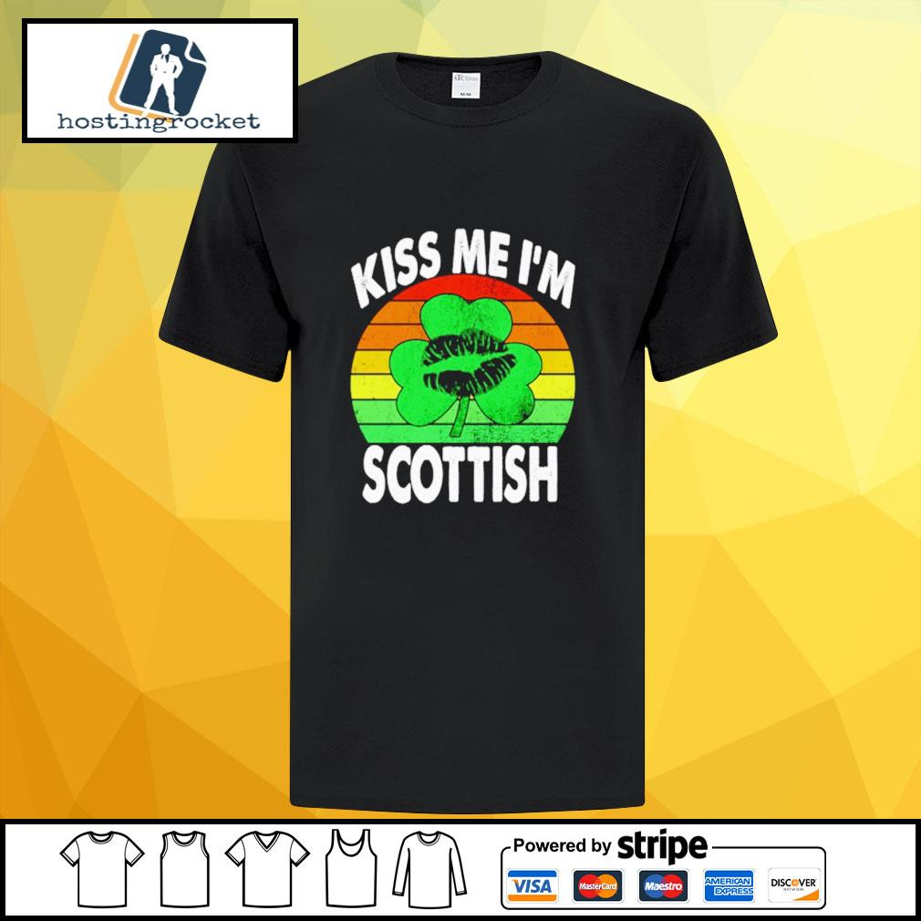 St. Patrick's Day kiss me I'm scottish vintage shirt