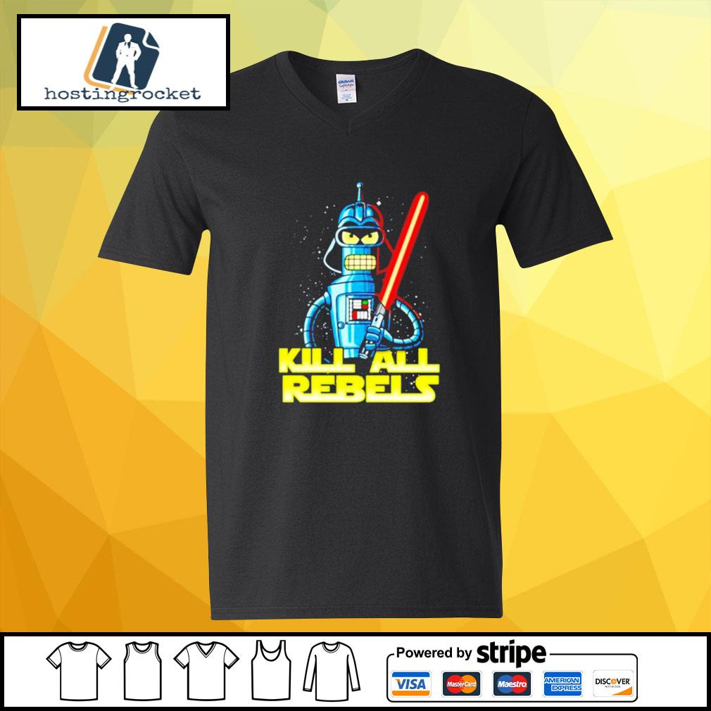 Star Wars Bender futurama Kill All Rebels v-neck-t-shirt