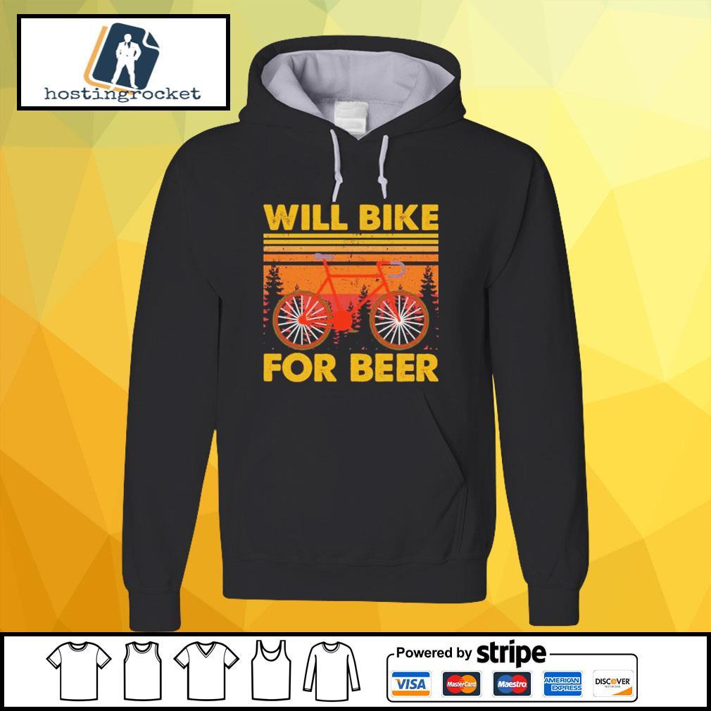 Will bike for beer vintage hoodie
