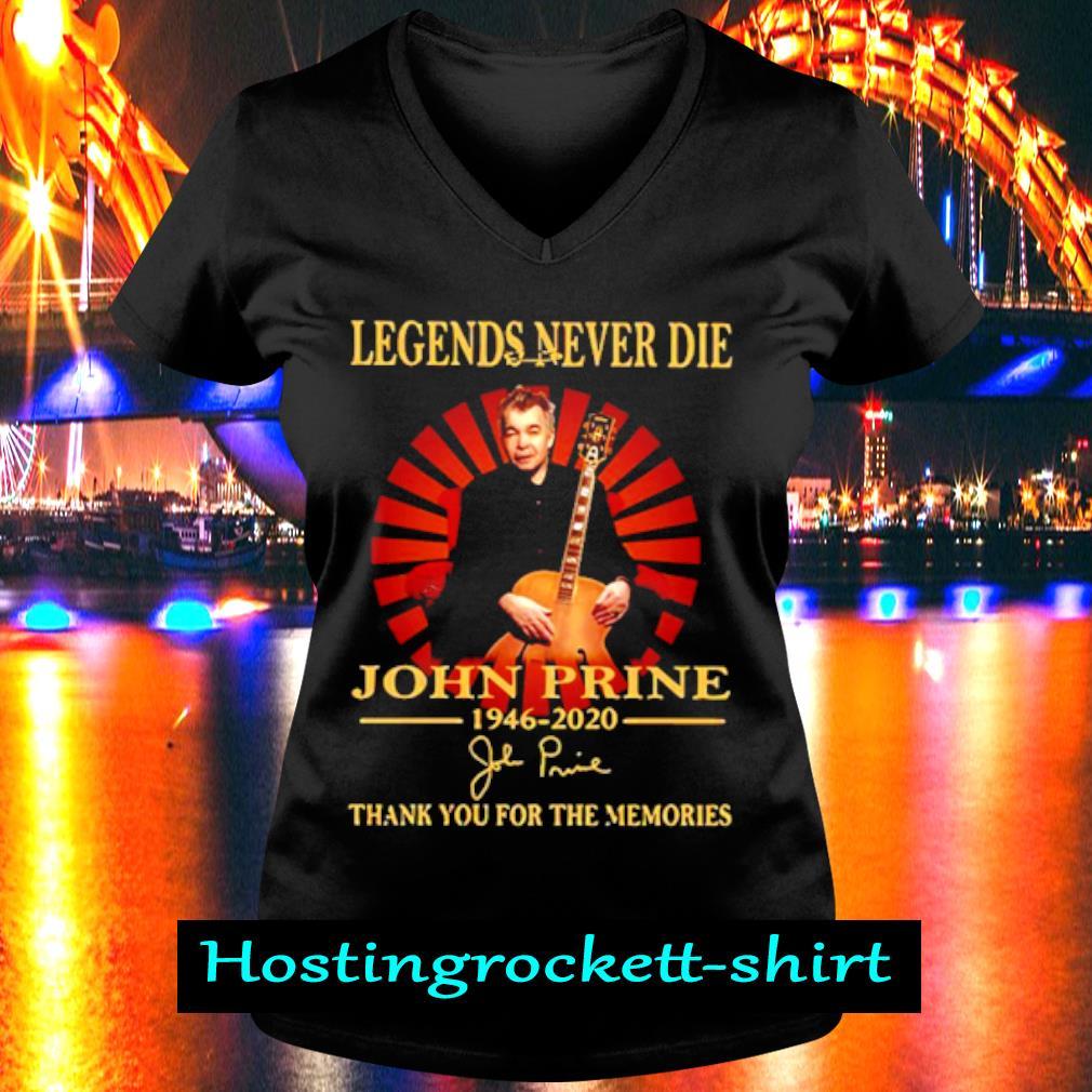 Legends Never Die John Prine 1946 2020 Thank You For The Memories Shirt V-neck T-shirt
