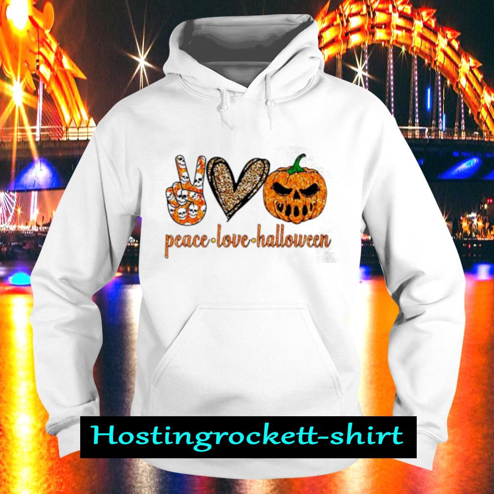 Peace Love Halloween diamond s Hoodie