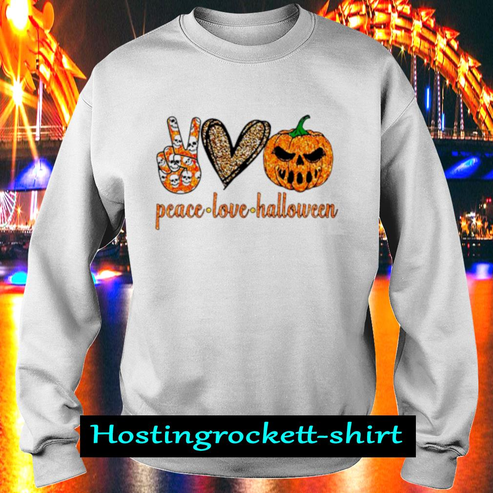 Peace Love Halloween diamond s Sweater