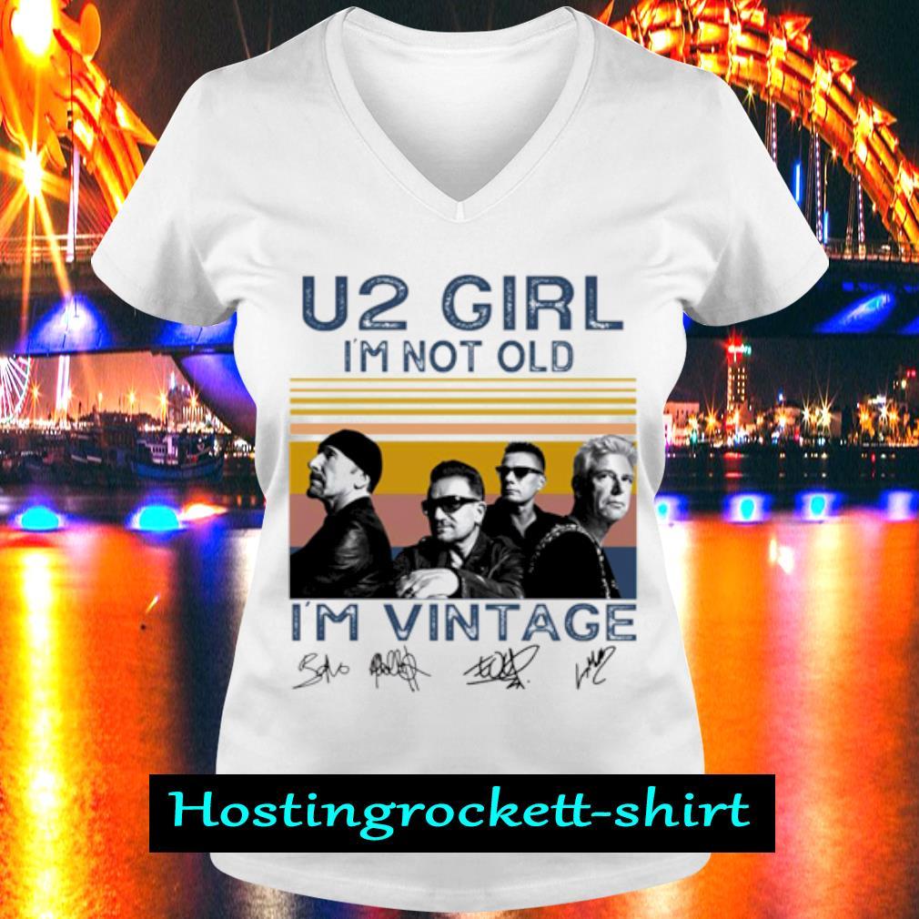 U2 girl I'm not old I'm vintage s V-neck T-shirt