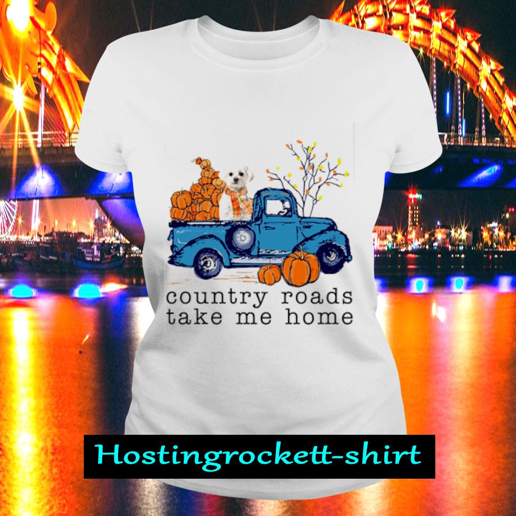 Poodle Country roads take me home s Ladies Tee