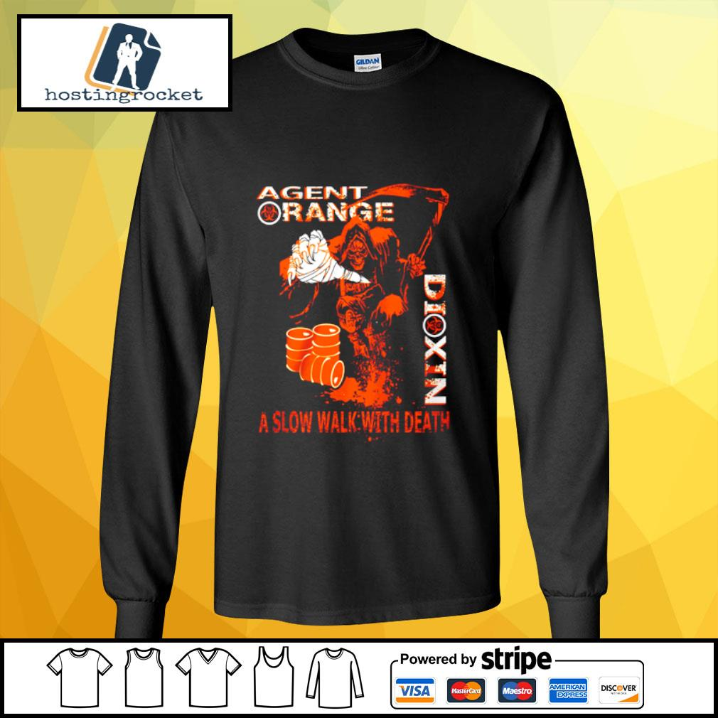 Agent range dixin a slow walk with death s longsleeve-tee
