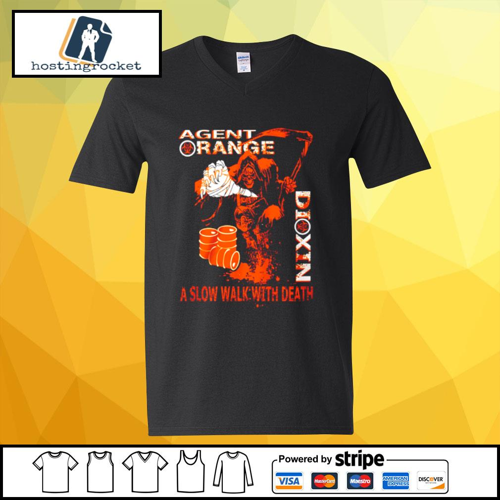 Agent range dixin a slow walk with death s v-neck-t-shirt