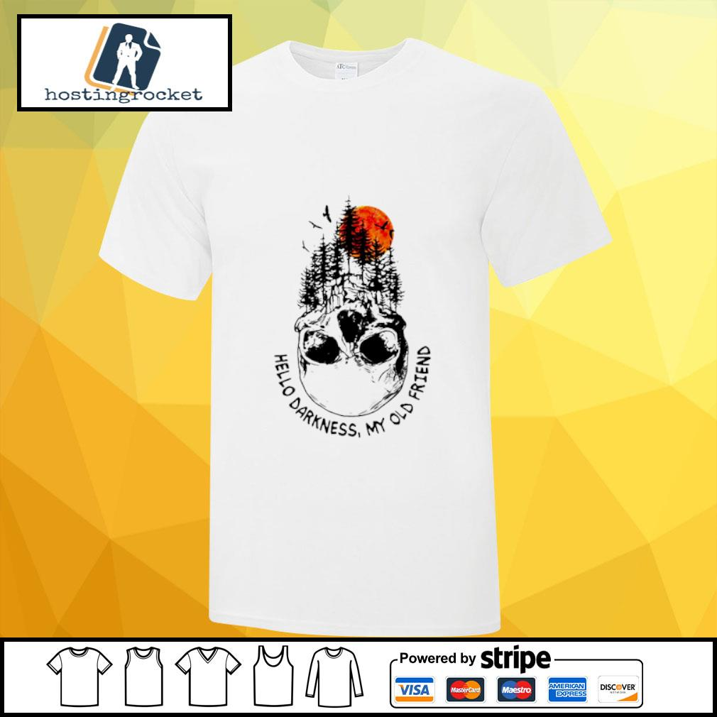 Camping skull hello darkness my old friend shirt