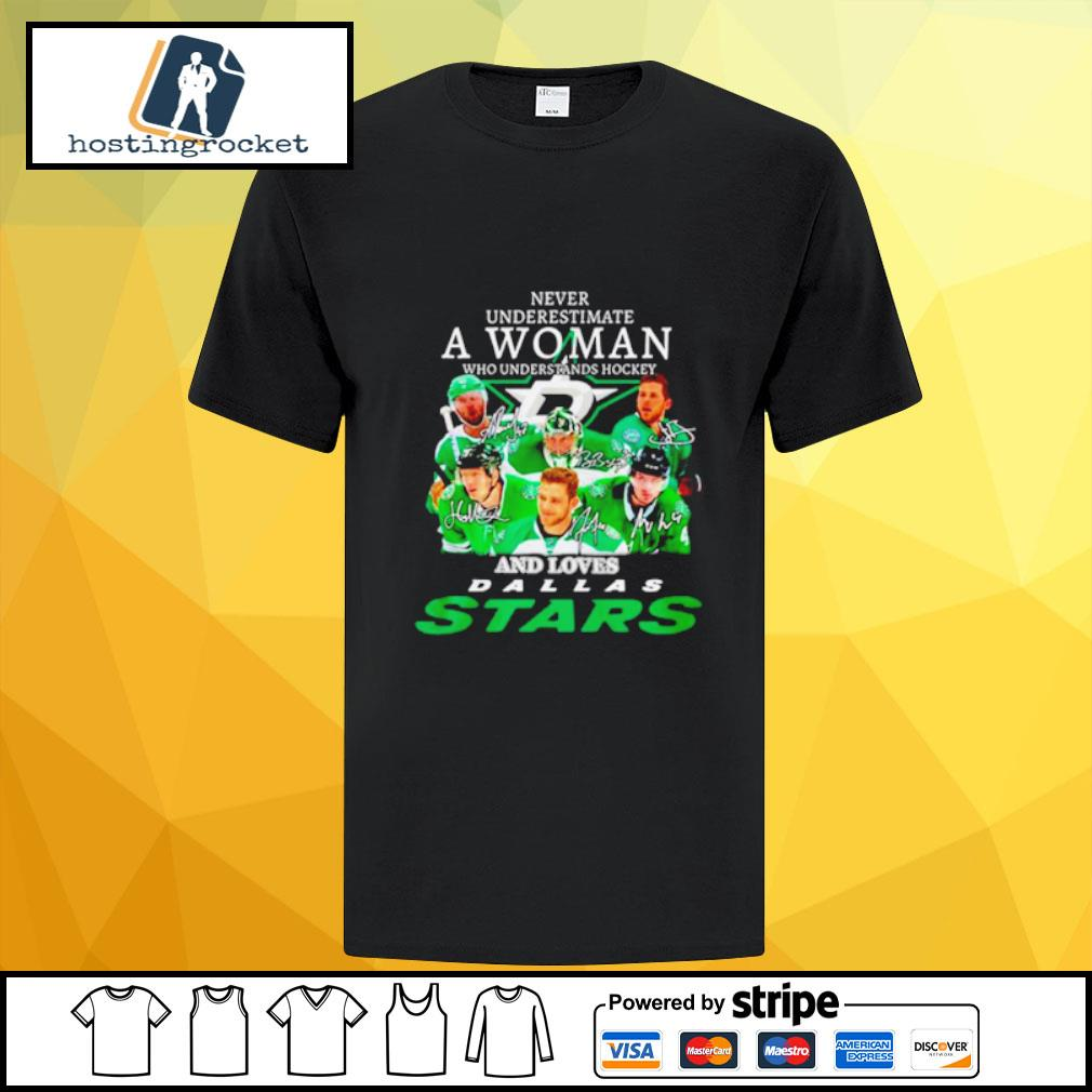 Funny Never underestimate a woman who understands hockey and loves Dallas Stars shirt