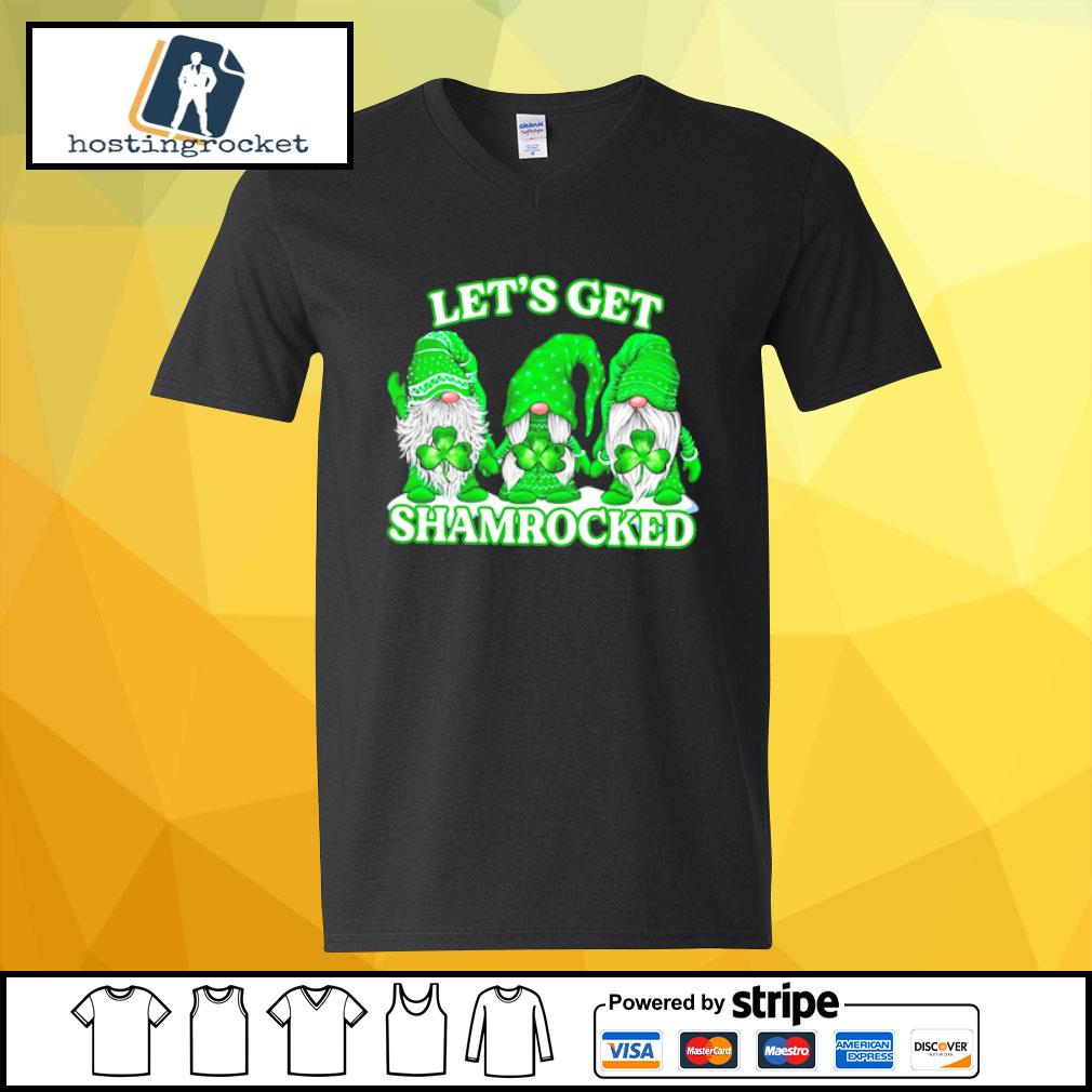 Gnomes let's get shamrocked s v-neck-t-shirt