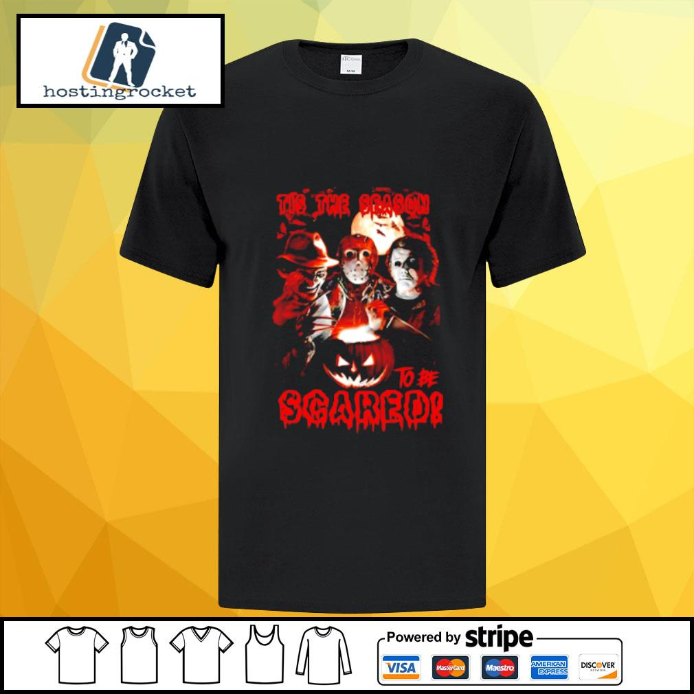 Halloween horror characters tis the season to be scared shirt