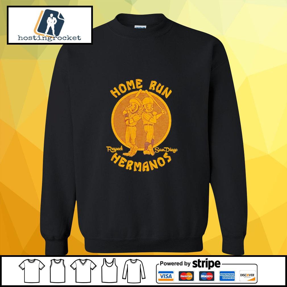 Home run respect San Diego Hermanos s sweater