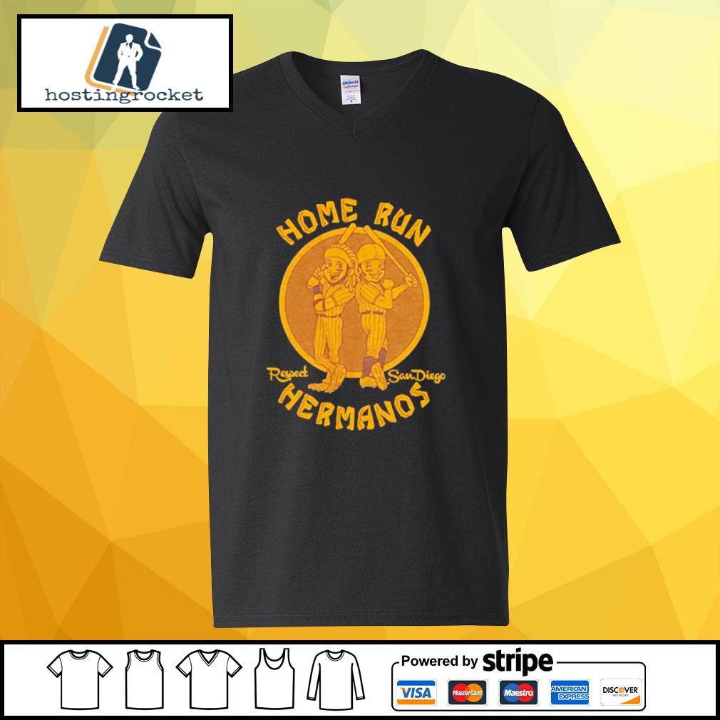 Home run respect San Diego Hermanos s v-neck-t-shirt