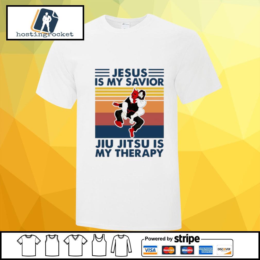 Jesus is my savior Jiu Jitsu is my therapy vintage shirt