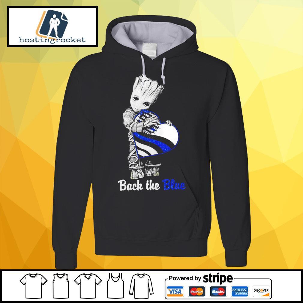 Back The Blue Baby Groot Shirt - Copy hoodie