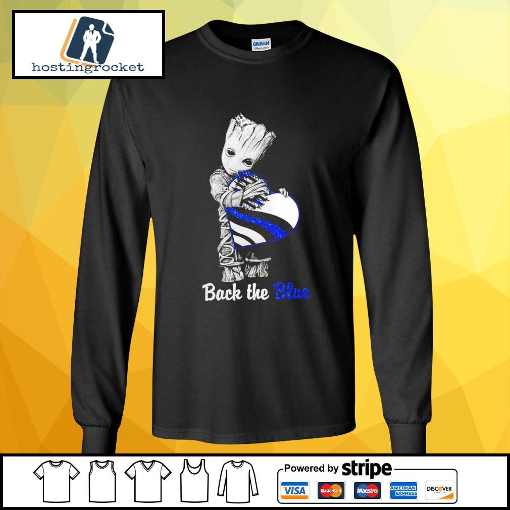 Back The Blue Baby Groot Shirt - Copy longsleeve-tee