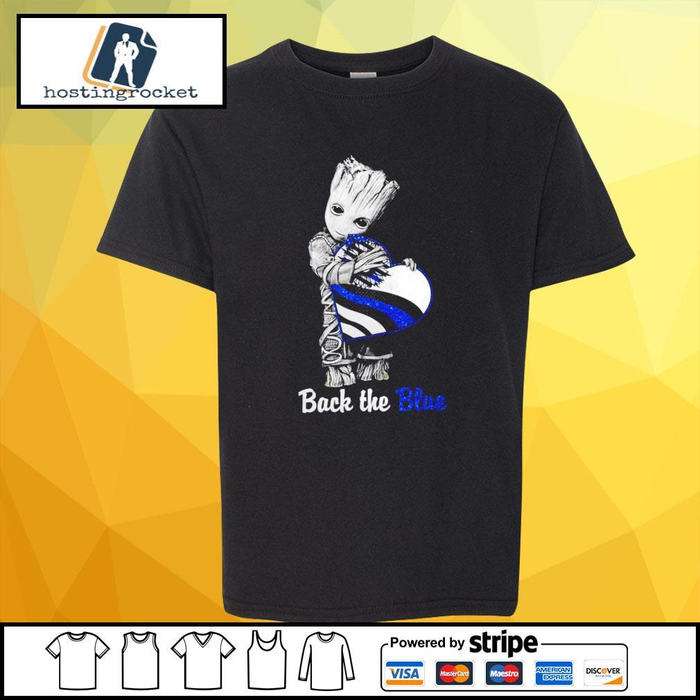 Back The Blue Baby Groot Shirt - Copy shirt