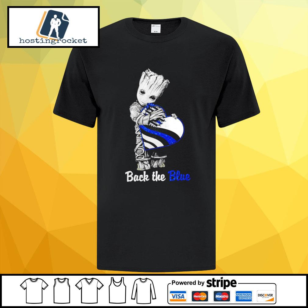 Back The Blue Baby Groot Shirt - Copy