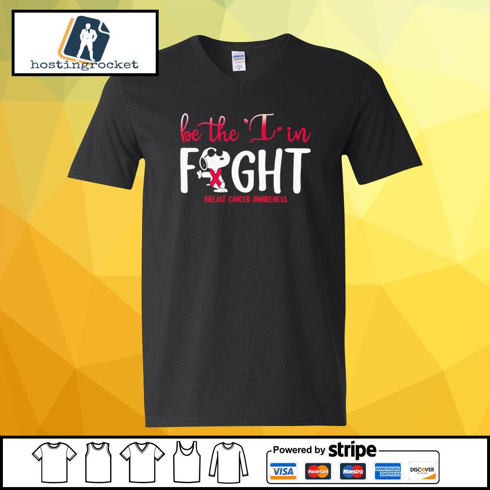 Be The I In Fight Snoopy Breast Cancer Awareness Shirt v-neck-t-shirt