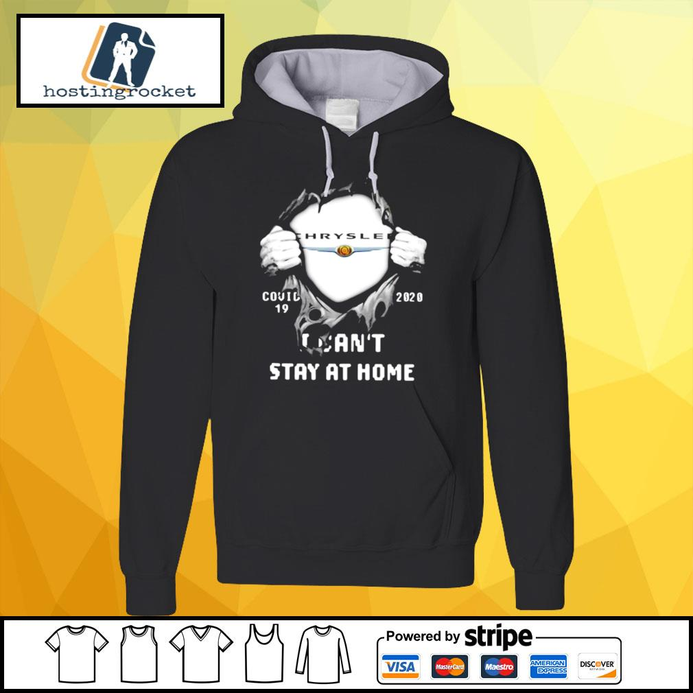 Blood Inside Me Chrysler Covid 19 2020 I Cant Stay At Home Halloween s hoodie