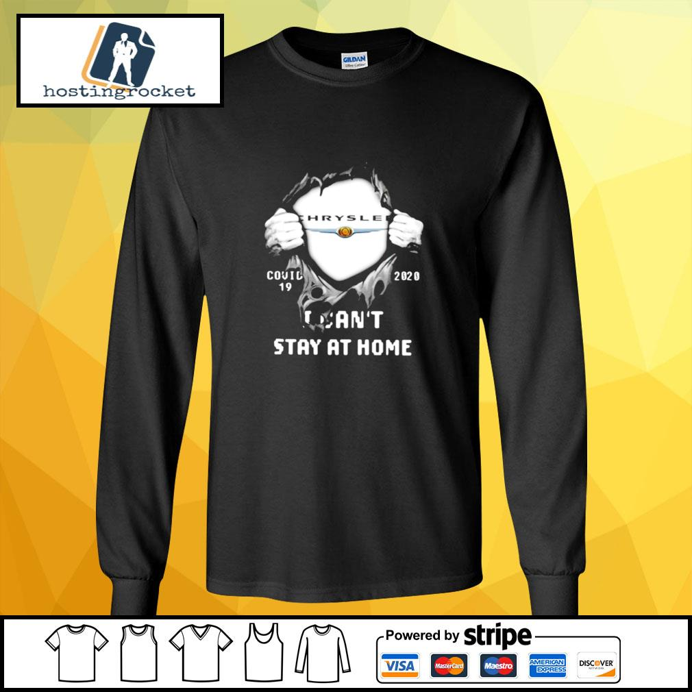 Blood Inside Me Chrysler Covid 19 2020 I Cant Stay At Home Halloween s longsleeve-tee