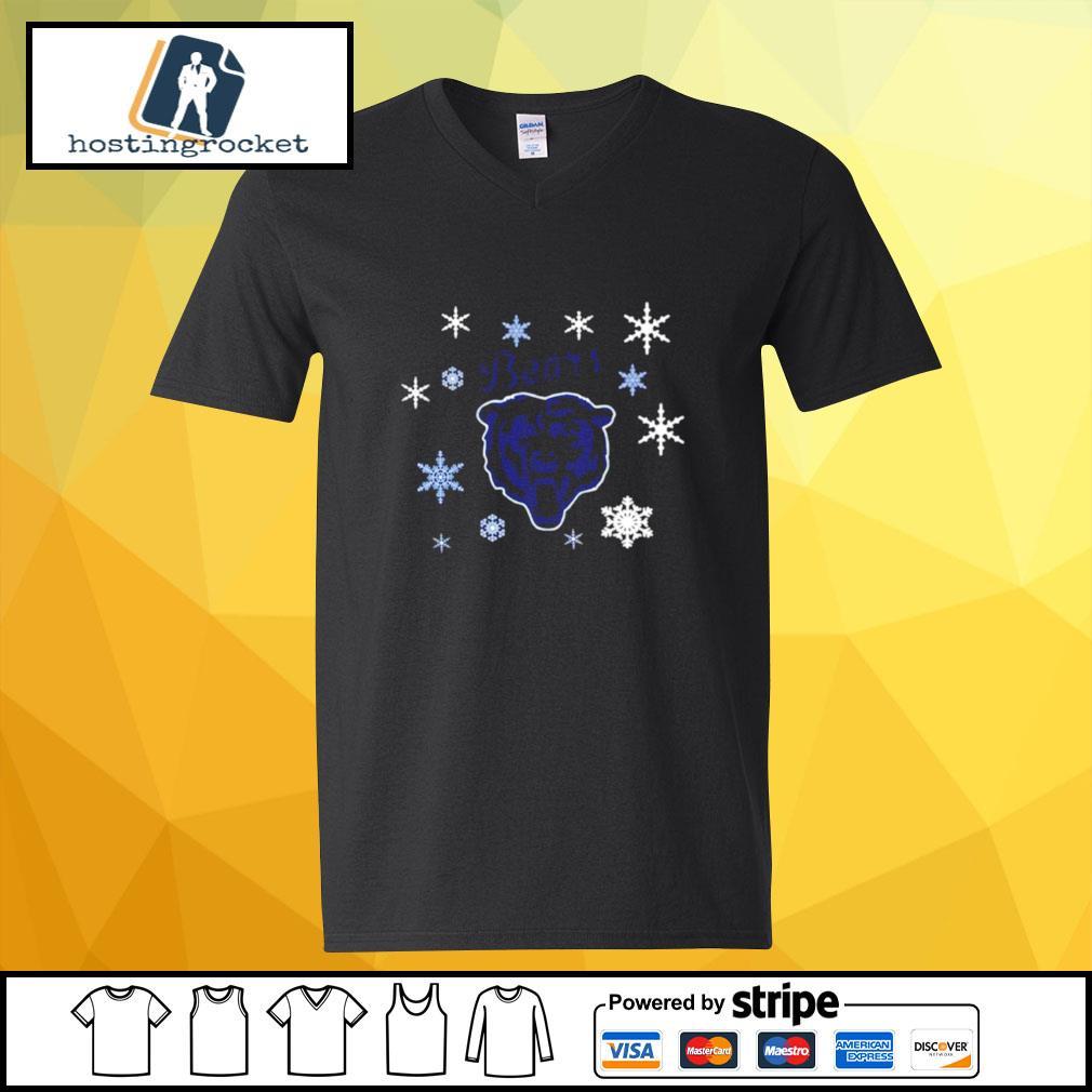 Chicago Bears Hallmark Christmas s v-neck-t-shirt