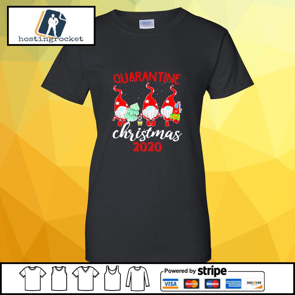 Gnomies Quarantine Christmas 2020 s ladies-tee