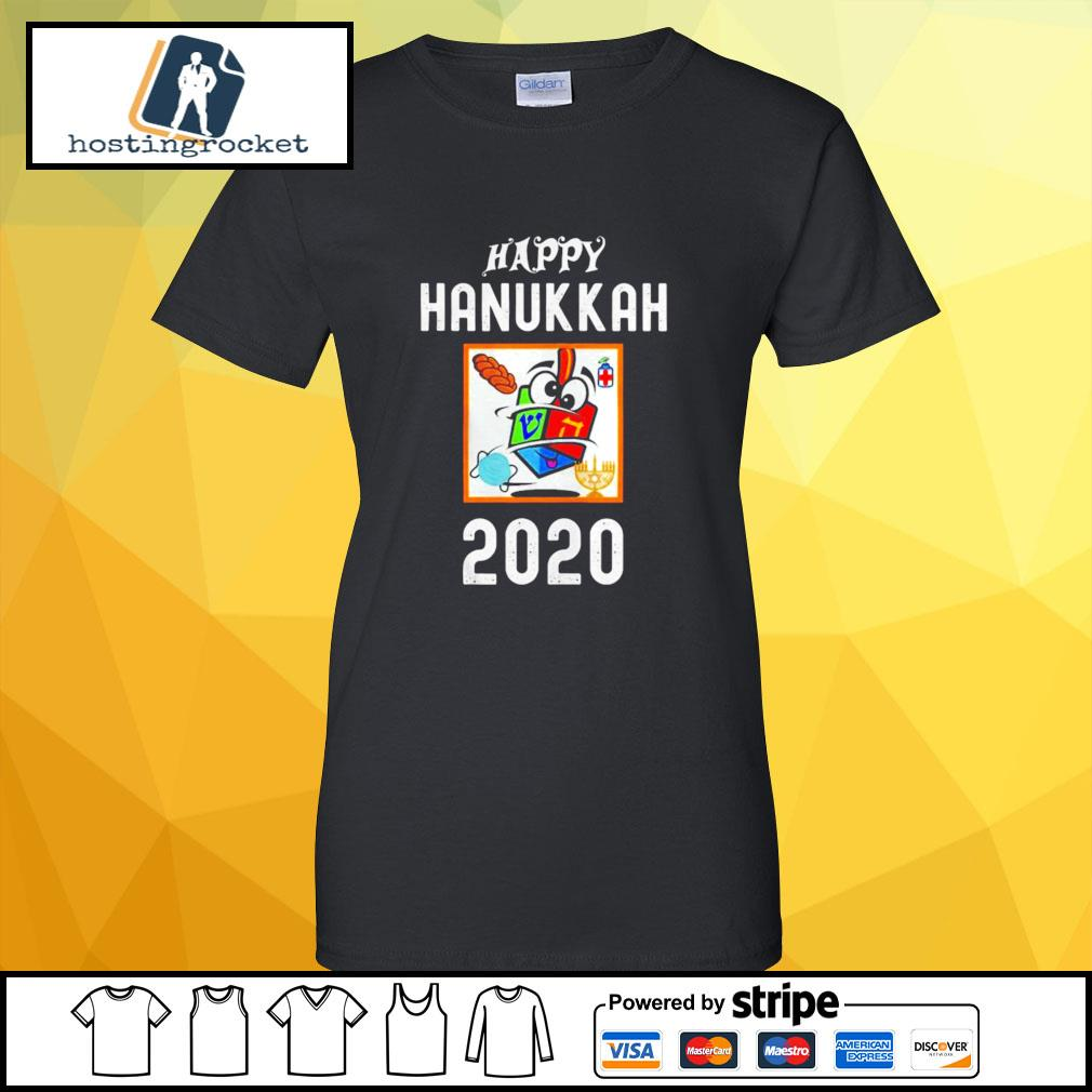 Happy hanukkah 2020 sanitizer and challah s ladies-tee