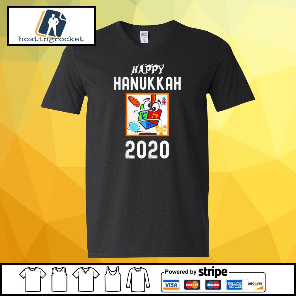 Happy hanukkah 2020 sanitizer and challah s v-neck-t-shirt
