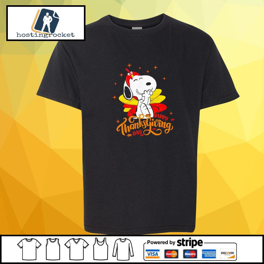 Happy Thanksgiving Snoopy Shirt shirt