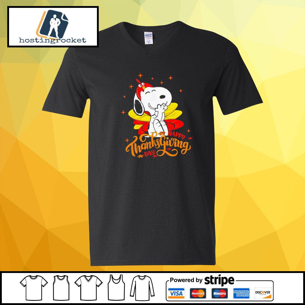 Happy Thanksgiving Snoopy Shirt v-neck-t-shirt