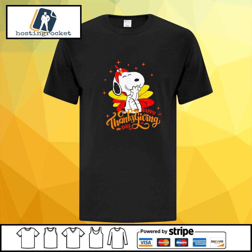 Happy Thanksgiving Snoopy Shirt