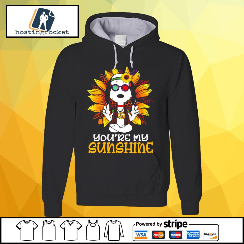 Hippie Sunflower Snoopy Shirt hoodie