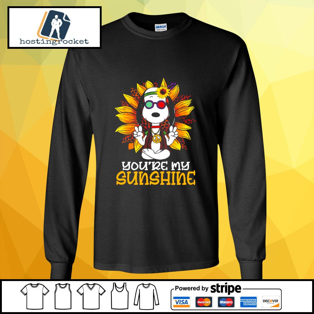 Hippie Sunflower Snoopy Shirt longsleeve-tee
