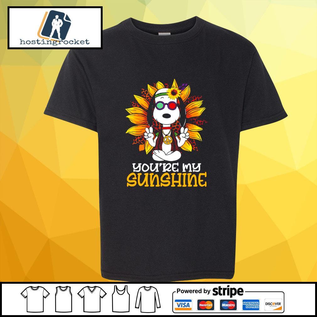 Hippie Sunflower Snoopy Shirt shirt