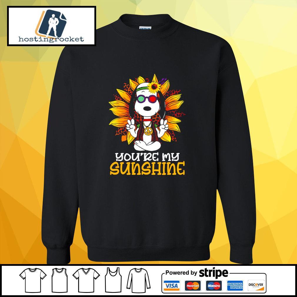 Hippie Sunflower Snoopy Shirt sweater