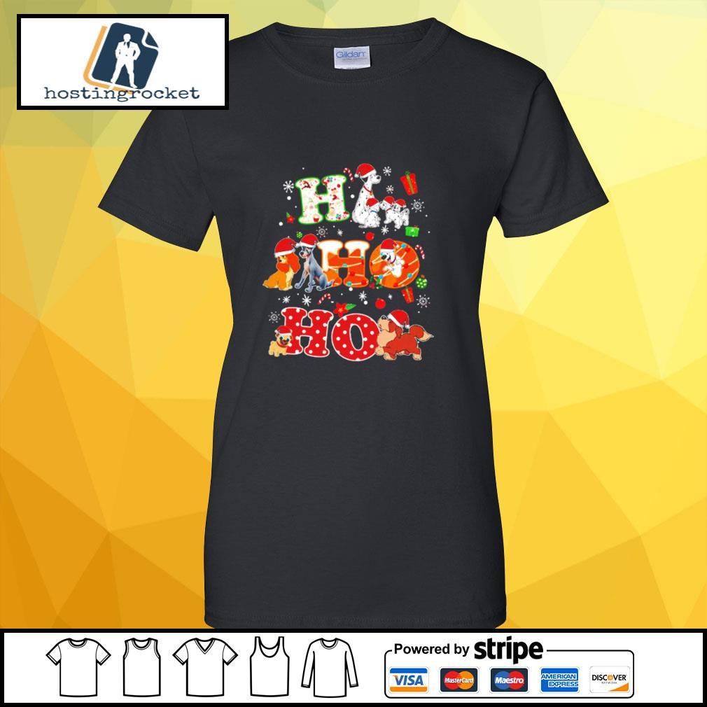 Ho Ho Ho Disney Dogaholic Christmas Shirt ladies-tee