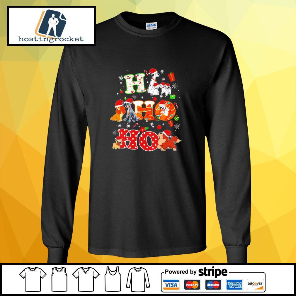 Ho Ho Ho Disney Dogaholic Christmas Shirt longsleeve-tee
