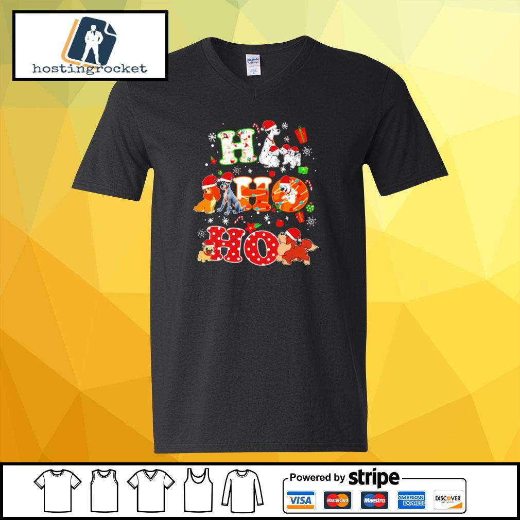 Ho Ho Ho Disney Dogaholic Christmas Shirt v-neck-t-shirt