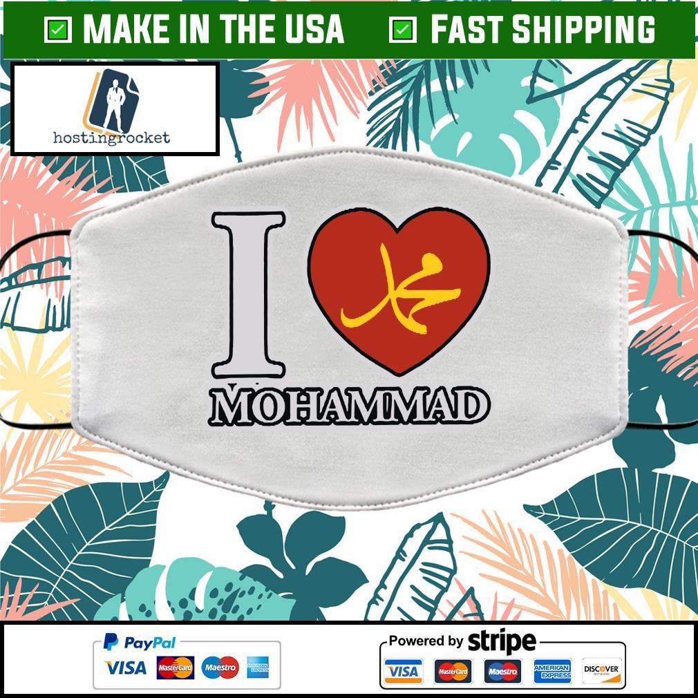 I Love Mohammad Cloth Face Mask Washable